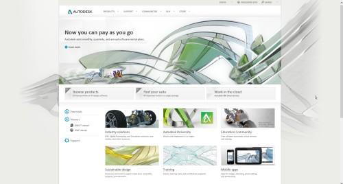 Autodesk splash page