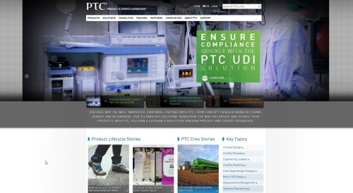 PTC splash screen