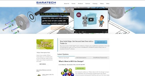 Saratech splash with SE creative video