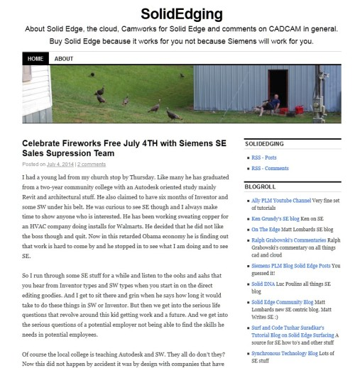 SolidEdging's $100.00 blog