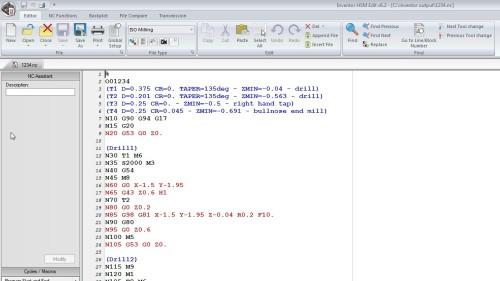 HSM code output.